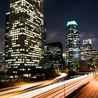 Downtown Los Angeles Freeway by Firesuite