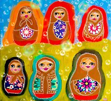 Russian Dolls by sunset