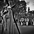 Semana Santa in Madrid - B &amp; W  version by Merlina Capalini