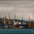 Esquimalt Royal Navy Dockyard by deze