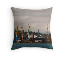Esquimalt Royal Navy Dockyard Throw Pillow