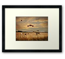 Playing With Balloons.... Framed Print