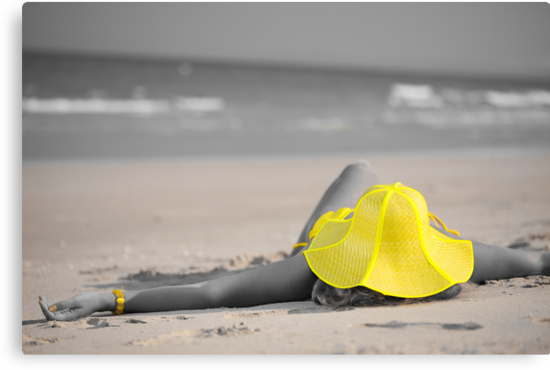 Woman in yellow hat by MotHaiBaPhoto Dmitry & Olga