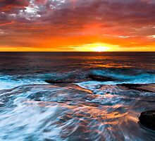 Sky Ablaze - Terrigal by Mathew Courtney