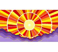 Vibrant sun Photographic Print