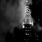 Smoky Chrysler building at night by contradirony