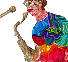 The Sax Player by BCallahan