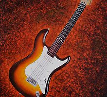 Sunburst Strat - Fender Stratocaster Guitar by Joann Barrack