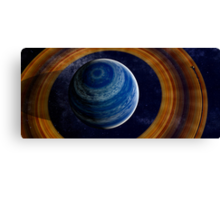 A ringed blue gas giant. Canvas Print