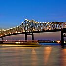 River Traffic - Above and Below by Mike Capone