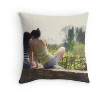 we tell each other everything Throw Pillow