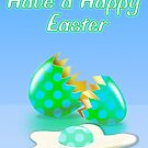 Happy Easter Egg Card by KatherineGV