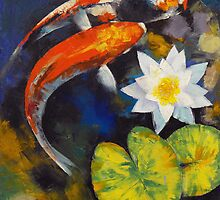 Koi Art Calendar by Michael Creese