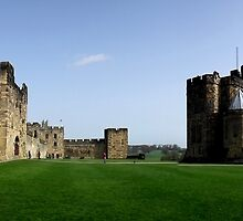 Panorama of Alnwick Castle (aka Hogwarts of Harry Potter) by Bernie Stronner