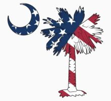 American Flag Palmetto Moon by PalmettoTrading