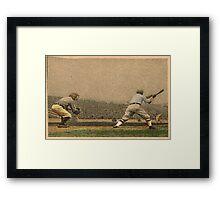 Vintage Style Baseball Memorabilia Framed Print