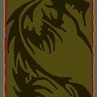 olive green tribal dragon by g1bson