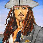Johnny Depp as Cpt. Jack Sparrow by ManemannArt