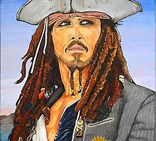 Johnny Depp as Cpt. Jack Sparrow by ManemannArt