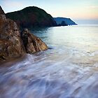 Dusk at Hope Cove, Devon, England by Giles Clare