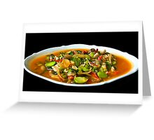 Diced Chicken with Vegetables Greeting Card