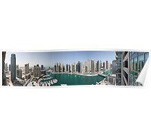 Dubai Marina Panorama Poster