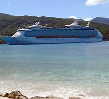 Mariner of the Seas in Labadee, Haiti by K Cassidy