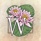 W is for Water Lily by Stephanie Smith