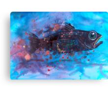 Fleeing fish Canvas Print