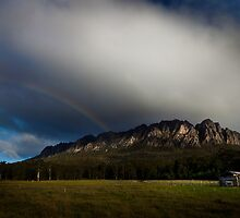 Mt Roland rainbow by Kelly Slater