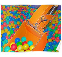 Multi-coloured Ball Pool Poster