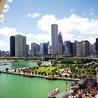 Chicago Skyline by Alberto  DeJesus