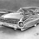 1959 Cadillac drawing by John Harding