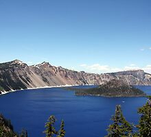 Crater Lake - Oregon by searchlight