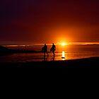 Sunset surfers 3 by Michaela  Benz