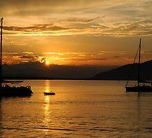Sunset on Guaraquecaba Bay by carlosporto