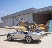 1965 Shelby AC Cobra with P51 Mustang by liebenguth