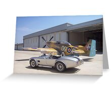 1965 Shelby AC Cobra with P51 Mustang Greeting Card