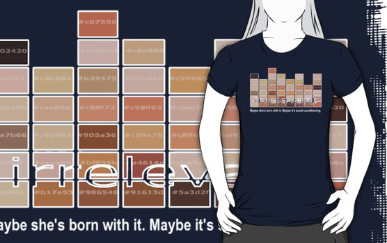 maybe she's born with it. maybe it's social conditioning by Octochimp Designs