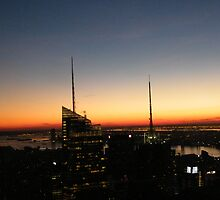 Manhattan At Sunset, As Seen from Top of the Rock by lenspiro