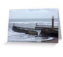 Entrance to Whitby Harbour Greeting Card