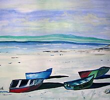Paternoster in waterpaint by Elizabeth Kendall