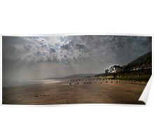 Sunrise at Sandsend  Poster