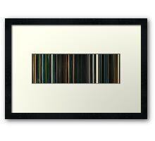 Moviebarcode: Sunshine (2007) Framed Print