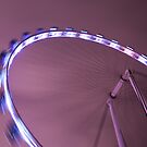 Spinning Light Wheel by Mark Lee