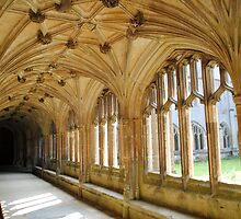 Cloisters - Lacock Abbey  by Photography  by Mathilde