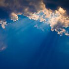 Dark blue cloudy sky by Medeu