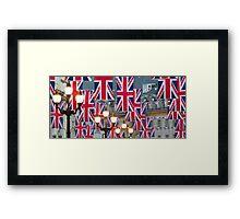 London. Regent Street. Royal Wedding Flags. (Alan Copson ©) Framed Print