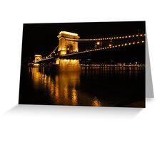 Chain Bridge Over The Danube Greeting Card