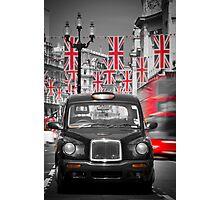 UK. London. Regent Street. Union Jack decorations for Royal Wedding.(Alan Copson ©) Photographic Print